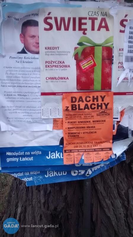 Będą Kary Za Nieposprzątane Plakaty Wyborcze łańcut Gada