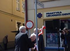 Uroczyste otwarcie ulic Łukasiewicza iZeha