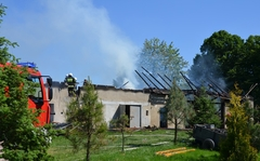 Pożar parafialnej stodoły wBiałobrzegach
