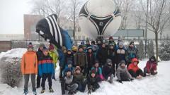 Młodziki na obozie piłkarskim wDębicy