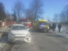 Dwie osoby poszkodowane wwypadku wMarkowej