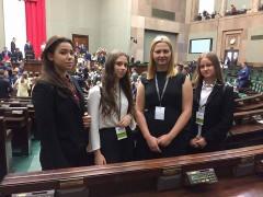 Młodzieżowa reprezentacja Łańcuta wSejmie