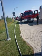 Zaprószenie ognia przy stacji paliw