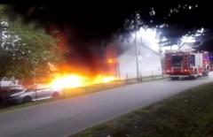 Pożar wwarsztacie
