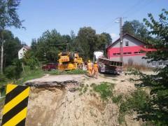 Budowa tymczasowego mostu