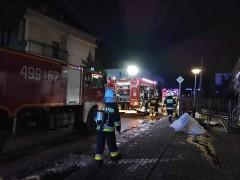 Pożar przy ul. Asnyka