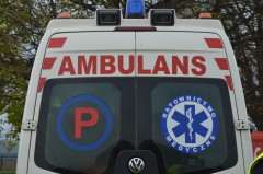 Wypadł zbusa na A4, wciężkim stanie trafił do szpitala