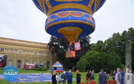 Balon zpocztą wzniósł się już nad Łańcutem
