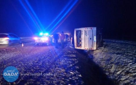 Wypadek autobusu między Głuchowem aKosiną