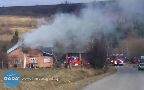 Pożar domu wHandzlówce