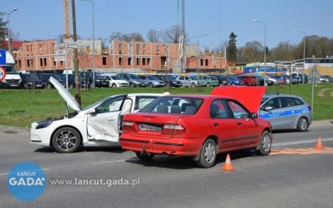 Zderzenie aut osobowych