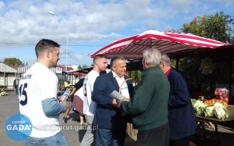 Kandydat do parlamentu na ulicach Łańcuta