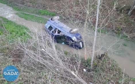 Wpadli do rzeki autem iposzli do domu