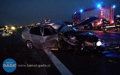 Wypadek na A4, jedna osoba ranna