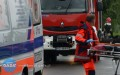 Współpraca łańcuckich służb ratowniczych
